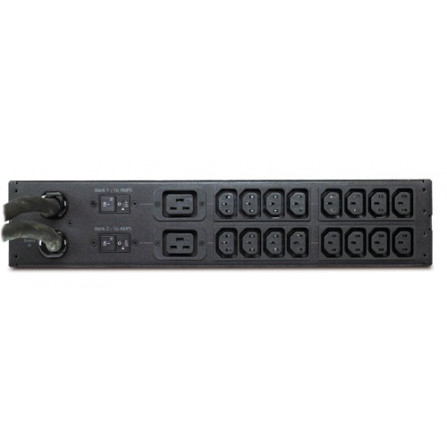 APC AP7724 Rack ATS, 2U 230V, 32A, IEC309-32A In, (16)C13, (2)C19 Out