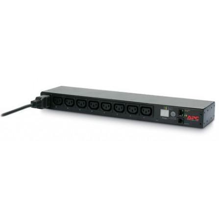 APC AP7921 Rack PDU, Switched, 1U, 16A, 208/230V, (8)C13