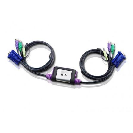 Aten CS62A 2-Port PS2 KVM Switch   1.2m